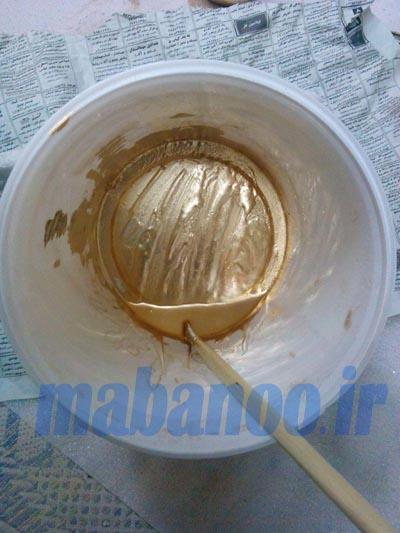 مخلوط پودر طلا وکیلر