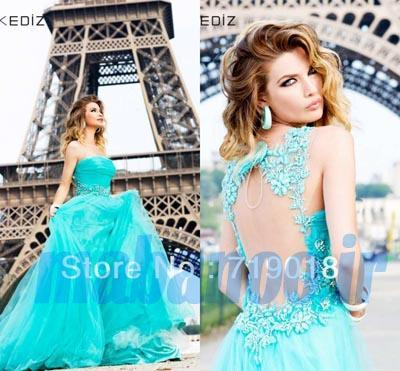 TR-023-Tarik-Ediz-Dresses-Evening-New-Style-A-line-Strapless-or-Round-Neck-Applique-Beaded