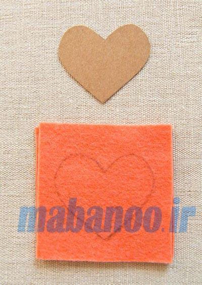 طرح گل نمدی طرح رومیزی ایده های نمدی - مابانو