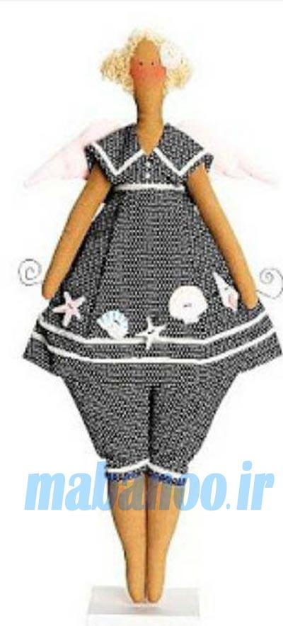 عروسک با پارچه انغوره آموزش عروسک تیلدا - مابانو