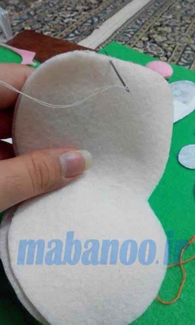 آموزش هایی با پارچه نمدی آموزش عروسک با نمد - مابانو