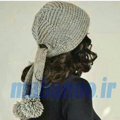 آموزش بافت کلاه پشت شلی بافت کلاه دخترانه - مابانو
