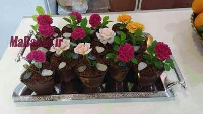 طرز تهیه دسر گلدانی
