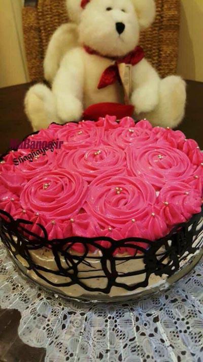 آموزش خامه کشی کیک