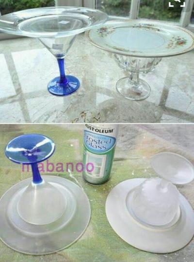 ساخت ظرف بانخ کنفی ساخت ظرف پایه دار ساده - مابانو